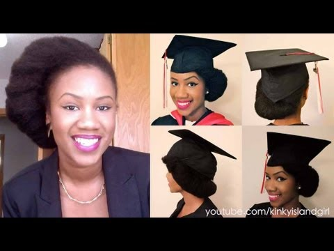 How To Wear Natural Hair Underneath Graduation Cap YouTube