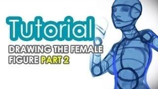 Рисование персонажей (урок #6) | Как рисовать женскую фигуру Часть 2