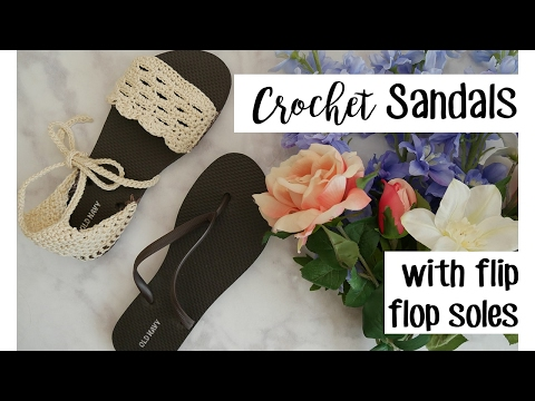 Crochet Sandals using Flip Flop Soles | Sewrella