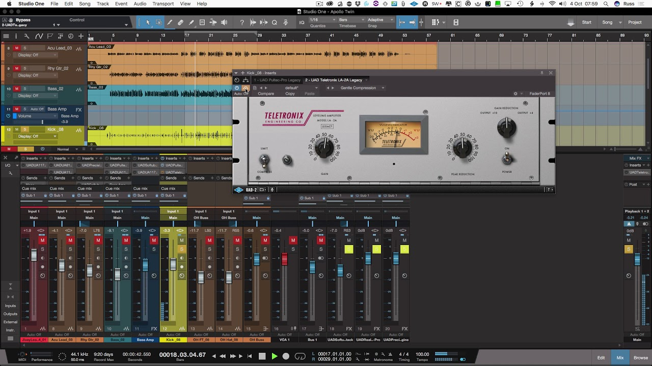 Apollo Twin Effects Bundle With Studio One