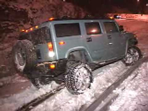 I 80 Hummer Trashed In Accident H2 Vs Guardrail Youtube