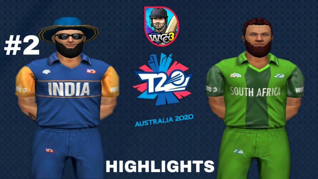 #2 India vs South Africa Match Highlights Wcc3 Gameplay T20 World Cup 2020