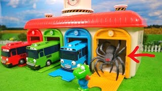 Monster Spider in Tayo the Little Bus Garage
