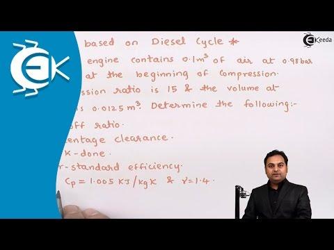 Problem No.5 Based on Diesel Cycle in Power Gas Cycle || Ekeeda.com