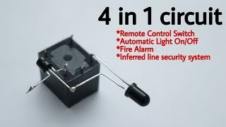 4 in 1 circuit remote control switch | Automatic light on-off | fire alarm and more