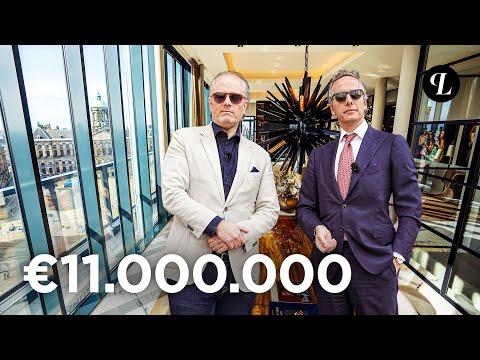 11 MILJOEN EURO VOOR DUURSTE PENTHOUSE VAN AMSTERDAM. PER BENTLEY GAAN WE KIJKEN.