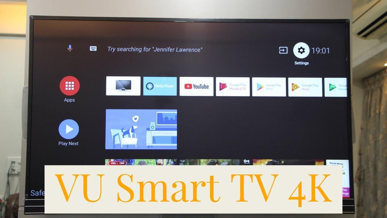 VU Smart Google Android TV 4k 55 Inches 140 Cm 55SU134 Unboxing Specs