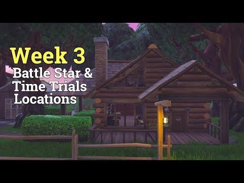 Fortnite Week 3 Secret Battle Star And Time Trial Locations !! Season 6 Fortnite