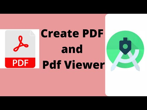 Create Pdf and Open Pdf file in android programmatically