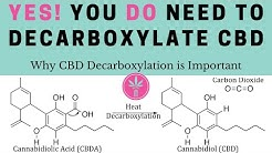 Yes, You DO need to Decarboxylate CBD.  Why CBD Decarboxylation is Important
