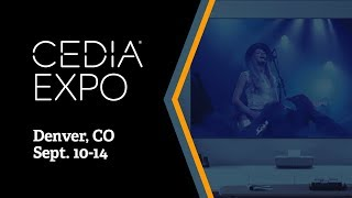 "Epson LS-500 Laser Projection TV 120"" Behind the Scenes at CEDIA 2019"