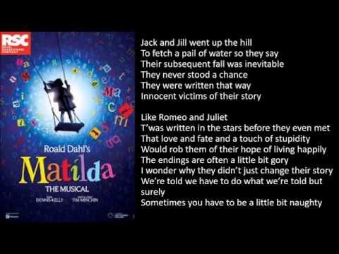 """Naughty"" (Matilda the Musical) - Karaoke with lyrics"