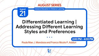 Differentiated Learning: Addressing Different Learning Styles and Preferences