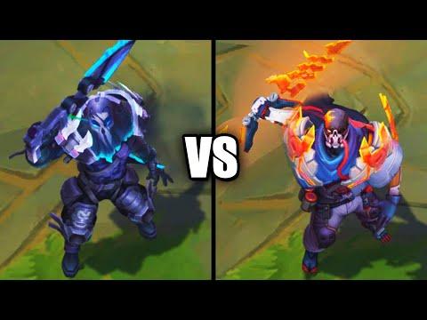 PsyOps Pyke vs Legendary PROJECT Pyke Skins Comparison (League of Legends)