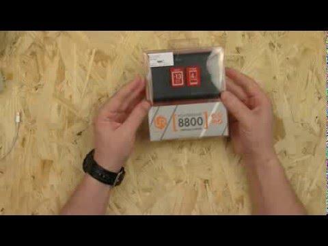 Распаковка и обзор повэрбанка TRUST URBAN REVOLT 8800