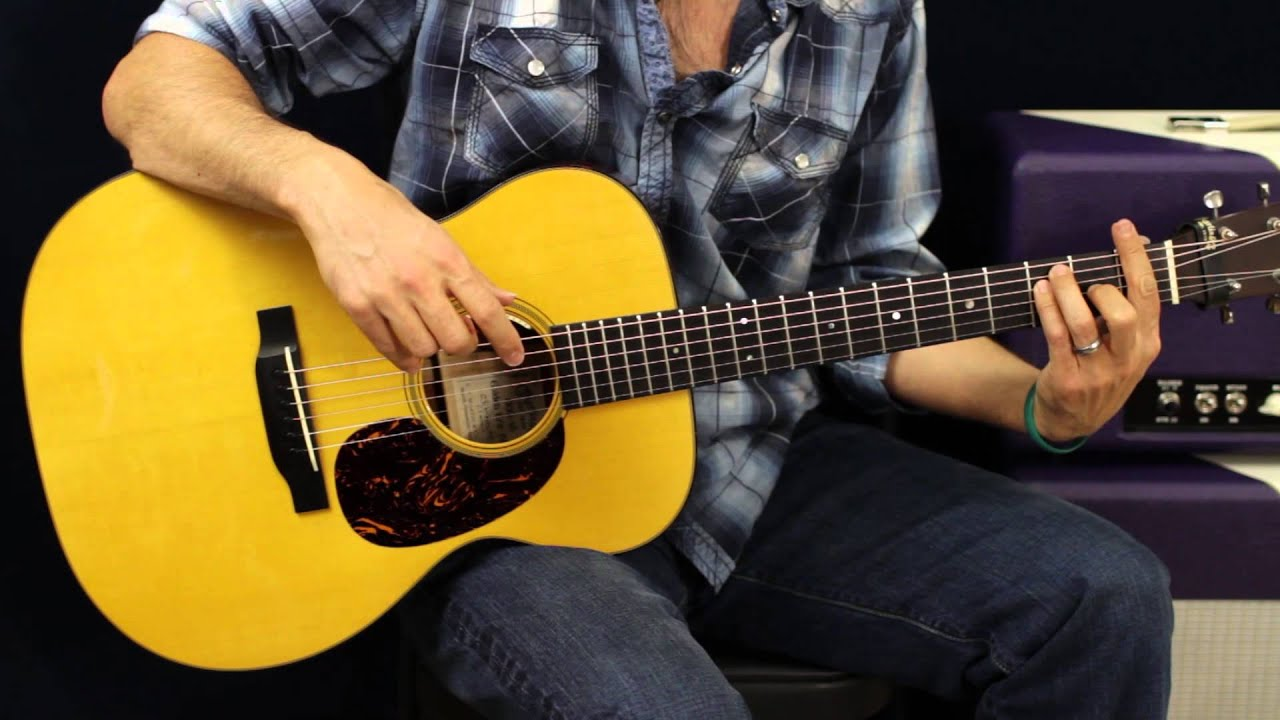how to play shine on acoustic guitar