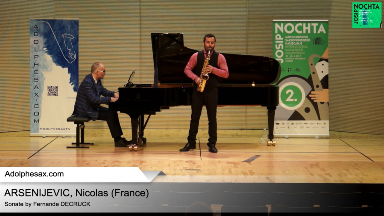 Sonate by Fernande DECRUCK – Nicolas ARSENIJEVIC (France)