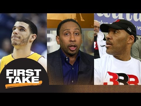 Stephen A. Smith goes off on Lonzo Ball for LaVar Ball's threats to Lakers | First Take | ESPN