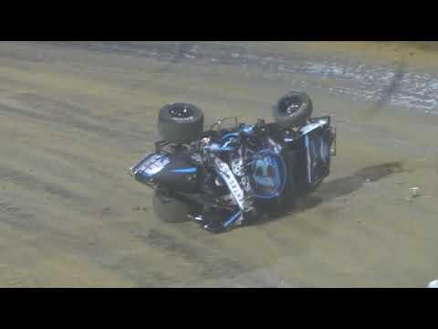 WOO Lawrenceburg Speedway - Christopher Bell wreck battling Kyle Larson 5/27/19