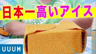 【祝100万人】 UUUMから日本一超高額な4万円のアイスが届いた…!!