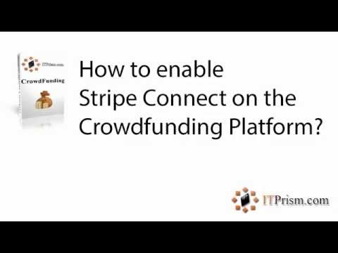 How to enable Stripe Connect on the crowdfunding platform?