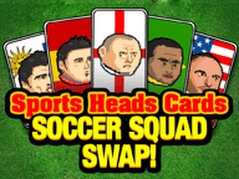 Heads cards soccer squad swap 5 click for details david football heads