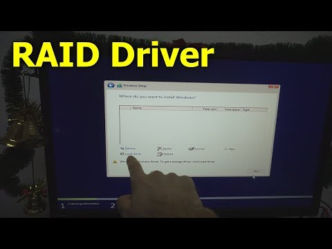 Windows 10 - We couldn't find any drives. To get a storage driver click load driver (RAID 0)