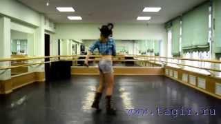 Видео уроки танца живота: Ковбойский танец (3 часть спиной)