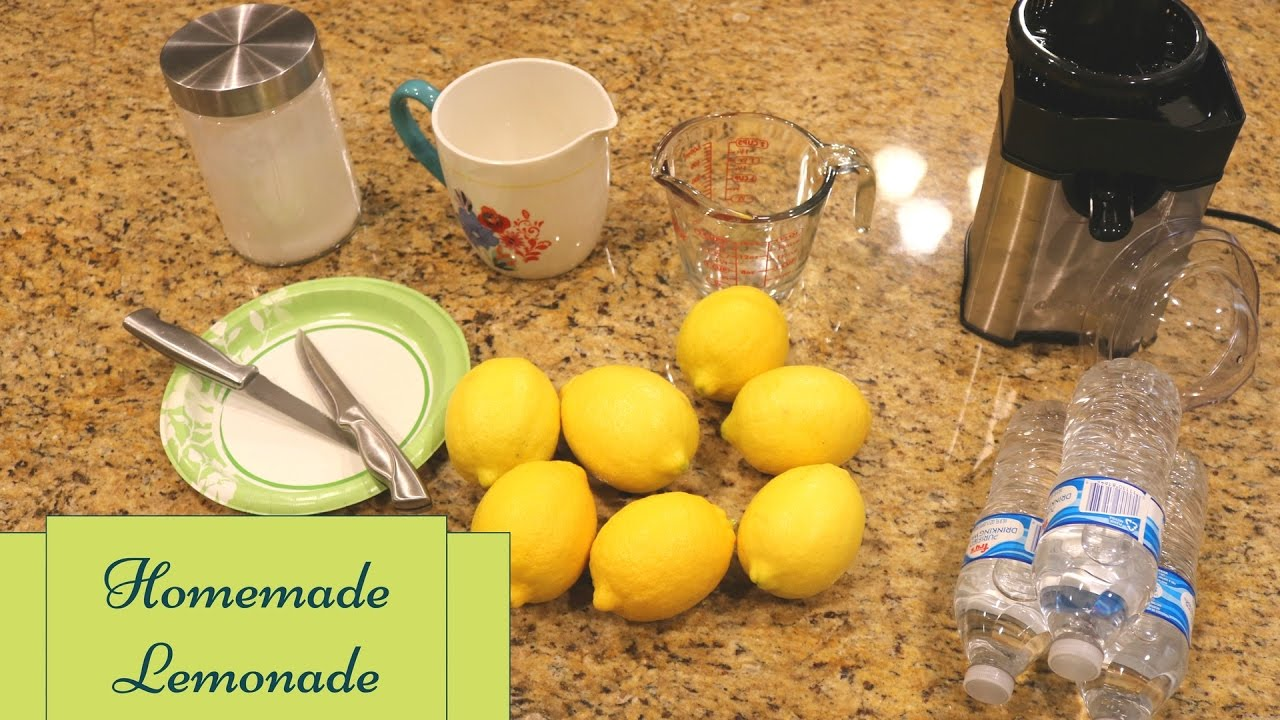 How To Make Lemonade Step By Step Video Youtube