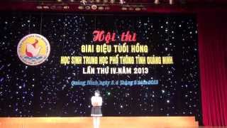 Giới thiệu chương trình dự thi GIAI ĐIỆU TUỔI HỒNG chuyên Hạ Long năm 2013