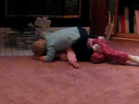 Cora and cole giving piggy backs