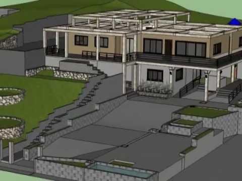 Sketch Up 8 House Plan Simple Presentation