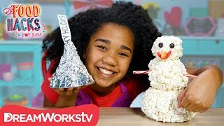 Giant Popcorn Snowman + More Massive Holiday Food Hacks | FOOD HACKS FOR KIDS