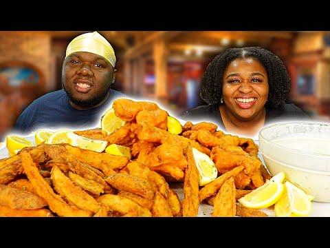 SUPER CRISPY BEER-BATTERED FISH AND CHIPS!! | RANDOM CHIT CHAT | MUKBANG + RECIPE | 먹방 EATING SHOW