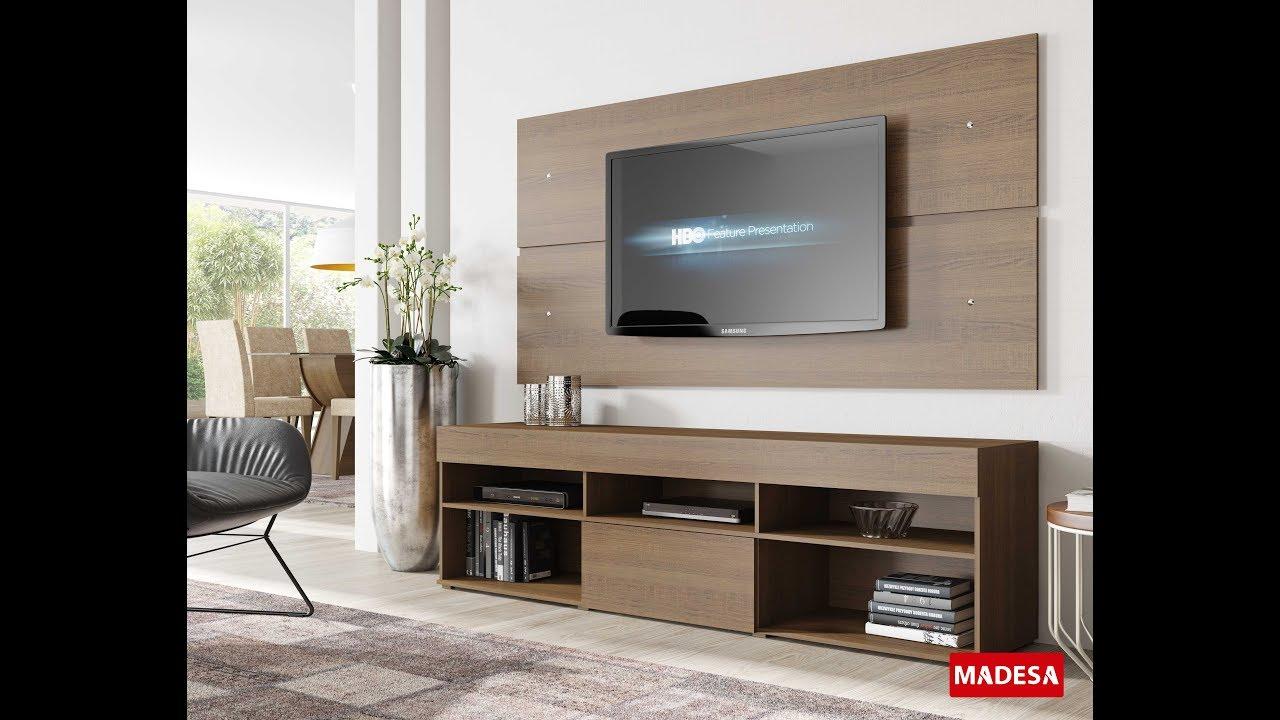 Montagem Painel de TV com Rack 7003 Madesa  YouTube