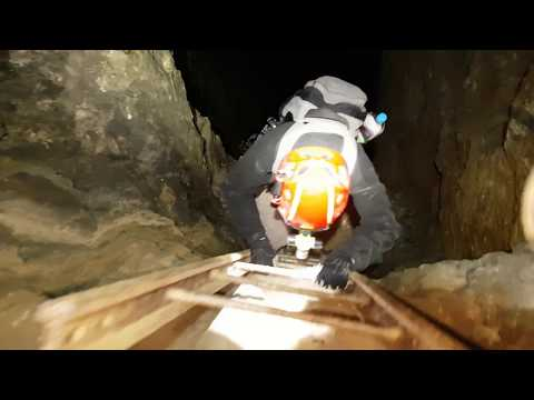 Exploring a fluorspar mine -UK abandoned mine Explore