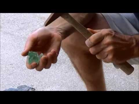 How to Cleave/Chip Fluorite Octahedrons - Part 1
