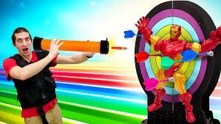 Супергерои в видео онлайн - Железный Человек попал в ловушку! – Игры для мальчиков на Фабрике Героев