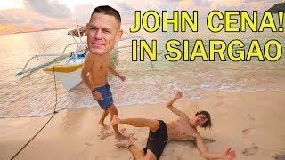 JOHN CENA visits SIARGAO PHILIPPINES?! with BISAYANG HILAW