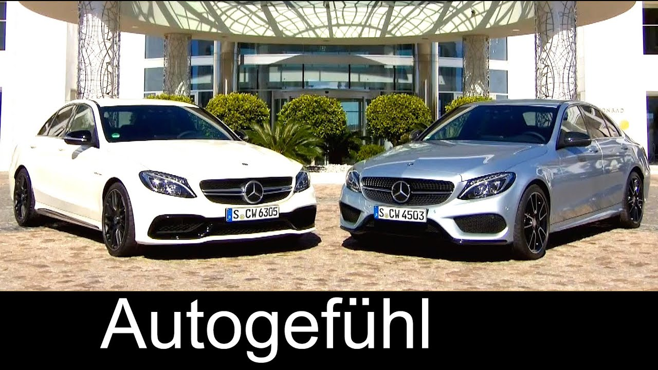 Mercedes c450 amg 4matic vs mercedes amg c63 exterior for 2016 mercedes benz c63 amg 4matic