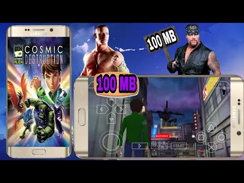 (100mb), Ben 10 Ultimate Alien Cosmic Destruction Highly Compressed Download On Android For Ppsspp