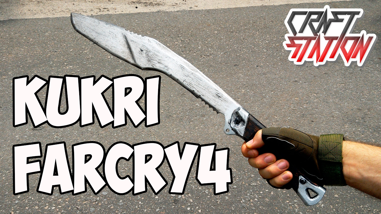 How To Make Kukri From Farcry4 Diy With Templates Youtube