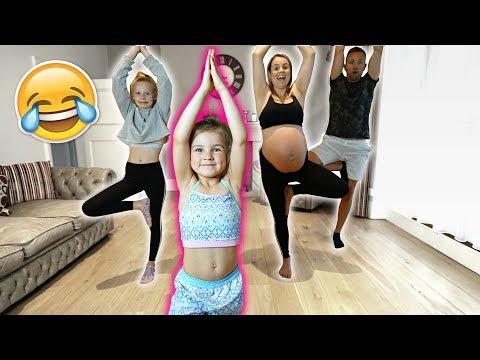 6 YEAR OLD TEACHES FAMiLY GYMNASTiCS CLASS! 🤣 **pregnant mom!!** thumbnail