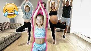 6 YEAR OLD TEACHES FAMiLY GYMNASTiCS CLASS! 🤣 **pregnant mom!!**