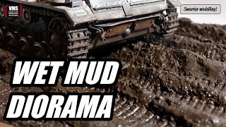 How to make wet mud diorama base for your tank - VMS Smart Mud XL wet finish tutorial HD