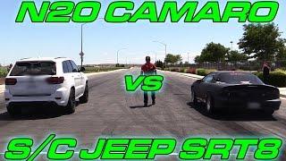 Supercharged Jeep SRT8 vs Nitrous LSx Camaro(Supercharged SRT8 Jeep vs Nitrous Camaro., 2017-01-30T06:45:02.000Z)