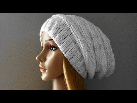 How To Knit A Slouchy Hat, Lilu's Handmade Corner Video # 29