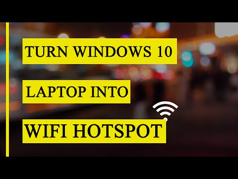 How to turn your laptop into a personal hotspot