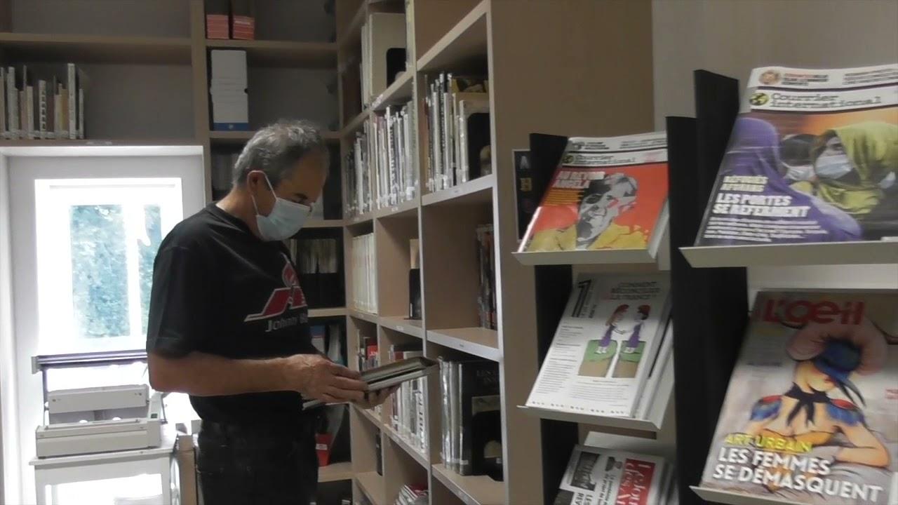 Présentation de la bibliothèque de l'école des beaux-arts de Beaune
