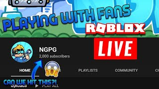 🔴FINAL PUSH TO 2000 SUBSCRIBERS WITH FANS | Roblox 2,000 Subscribers HYPE Stream🔴